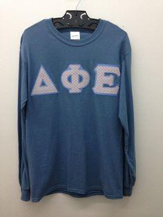 Delta Phi Epsilon Sorority Indigo Blue Small T Shirt -- Ready to Ship! by GoneGreek on Etsy