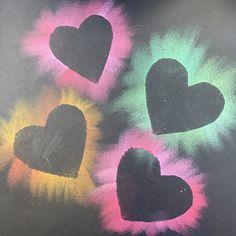 Kindergarten Exploding Hearts - kindergarten exploding hearts, elementary art, kindergarten art, kindergarten valentine's day art, - Valentines Art Lessons, Chalk Art Quotes, Kindergarten Art Projects, Sidewalk Chalk Art, Chalk Drawings, Chalk Pastels, Preschool Art, Art Classroom, Heart Art