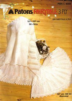 baby shawls square christening vintage baby knitting by Ellisadine Shawl Patterns, Baby Knitting Patterns, Baby Patterns, Crochet Patterns, Blanket Patterns, Knitting Ideas, Baby Shawl, Blanket Shawl, Knitting Wool