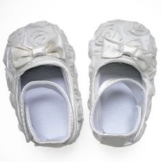 Baby Rosette Shoes - White