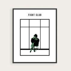 Fight Club, Marla Singer, Helena Bonham Carter, Minimal Movie Poster.