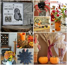 Fall means cool crisp air, jeans, sweaters and boots! If you like to bring a touch of fall inside, here are 16 Fall Decorating and Craft ideas to get your creative juice flowing. Halloween Sale, Fall Halloween, Halloween Crafts, Halloween Ideas, Fall Crafts For Adults, Easy Fall Crafts, Home Crafts, Fun Crafts, Arts And Crafts