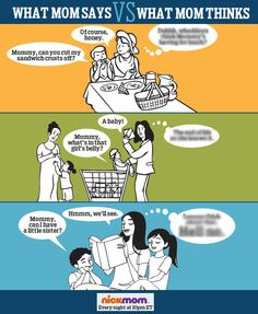 What mom says vs. what mom thinks. (Part 5)
