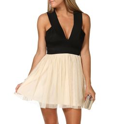 Pre-Order: Black Colorblock Bandage Dress accessorize