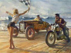 """Daytona Duel"" - Limited Editions - All Artwork - David Uhl | Fine Art World"