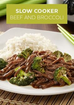 15 minutes of prep in the morning and this delicious Slow Cooker Beef and Broccoli will be ready for dinner tonight! A simple Asian recipe that comes together in no time.