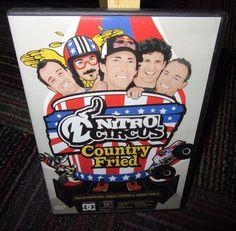 NITRO CIRCUS - COUNTRY FRIED DVD, TRAVIS PASTRANA, DIRT BIKE/MOTOCROSS FREESTYLE