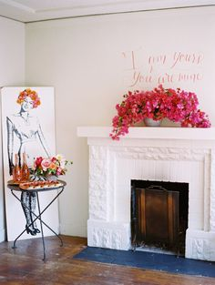 Modern pink bridal shower | Photo by Jessica Burke | Creative Direction A and B Creative | Florals Mandolin Flowers | 100 Layer Cake
