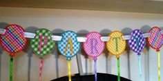 Party Balloon Banner In The Hoop Banners by BigDreamsEmbroidery