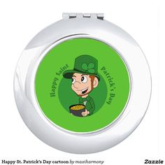 Happy St. Patrick's Day cartoon Mirrors For Makeup