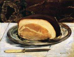 """The Ham"" (circa 1875-1878), by French artist - Édouard Manet (1832-1883), Oil on canvas, 32.4 x 41.2 cm. (12.76 x 16.22 in.), Burrell Collection - Glasgow, United Kingdom."