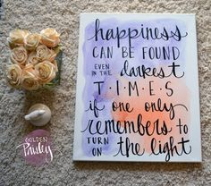 watercolor background canvas quote art