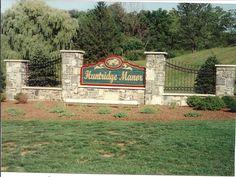 Stone and Iron sign.  Village Craft Iron & Stone, Inc.