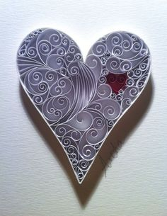 Love Heart Paper Quilling Art by QuillingbyCourtney on Etsy: