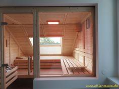 Bad oben Design Sauna unter der Dachnische Kitchen – The Delicious Living Room For a woman if cuisin Diy Sauna, Basement Windows, Basement Bedrooms, Cardboard Frames, Portable Sauna, Niche Design, Loft Bathroom, Sauna Room, Spa Rooms