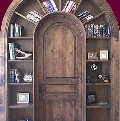 "Bookcase Door...love this! Door to limitless imagination! Maybe having a few ""titles"" or author names in small script on the doors would be fun too!"