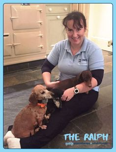 Kim with the #Dachshund trio: Pinky, Otto and Toffee. #dogs #pets #veterinary #physiotherapy