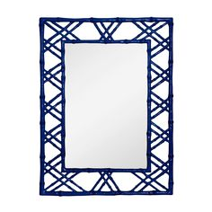 Claire Faux Bamboo Mirror in Blue from Bungalow 5 features lacquered wood frame. Modern style strikes a stylish cord with this blank wall solution. Blue Framed Mirrors, Mirror Art, Black Mirror, Framing Mirrors, Hallway Mirror, Decorative Mirrors, Mirror Shop, Vanity Mirrors, Upstairs Hallway