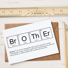 Funny Brother Periodic Table Card