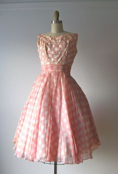 vintage 1950s prom dress / Bubblegum Bop  I wore something kind of like this but in baby blue and no sleeves   ;)