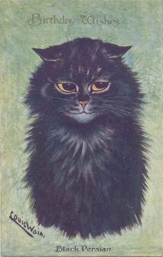 """Louis Wain's Cat Gallery  -  """"No matter how tired or wretched I am, a pussycat sitting in a doorway can divert my mind."""" ~ Mary E. Wilkins Freeman"""