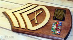 Custom Wooden Rank Insignia Plaque USMC by KnotBadWoodwork