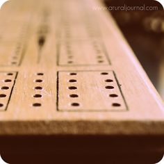 Cribbage Board, Vintage, Games.  Very popular in my family.