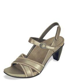 07407c8ed378 Aetrex Titanium Madeleine Leather Sandal