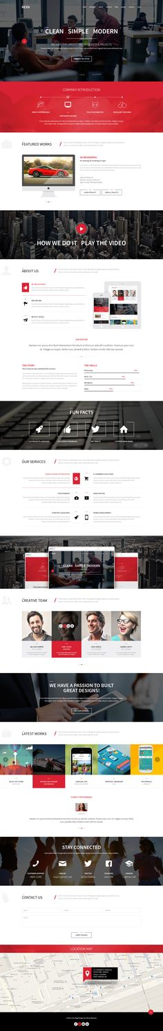 Rexn is a Modern Multipurpose #Parallax #PSD Landing Page. This #Template is Suited for any type of #website, personal or business use.