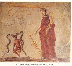 'Cacator cave malum' fresco from Pompeii (IX.12.21/22).