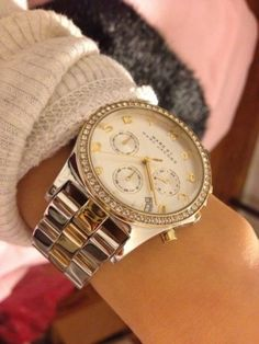 Marc By Marc Jacobs Henry Chronograph Silver Gold Dial Stainless Steel