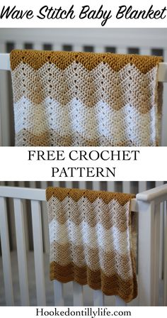 Crochet Afghans Patterns Wave Stitch Baby Blanket - Free Crochet Pattern — Hooked On Tilly Crochet Baby Blanket Free Pattern, Easy Crochet Blanket, Crochet For Beginners Blanket, Baby Afghan Crochet, Manta Crochet, Afghan Crochet Patterns, Baby Patterns, Crochet Blankets, Chevron Patterns