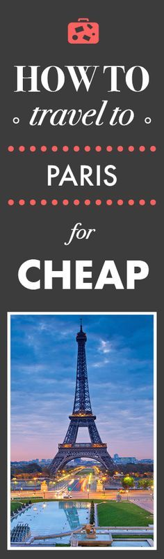 Find the cheapest flights to Paris!  Airfarewatchdog helps you save money when you book your next flight - so you always get the best deal.