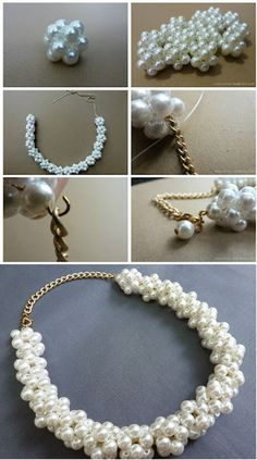 Pearl Beads Necklace � DIY