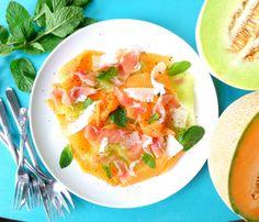 shaved melon and prosciutto salad with grana padano