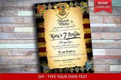Harry Potter Invitation Harry Potter Birthday par TYPEandINVITE