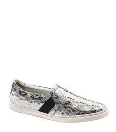 Lanvin Metallic Snakeskin Sneaker - The fashion girl's guide to wearing sneakers: http://www.harpersbazaar.com/fashion/fashion-articles/how-to-wear-stylish-sneakers
