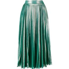 Gucci pleated metallic skirt ❤ liked on Polyvore (see more pleated a line skirts)