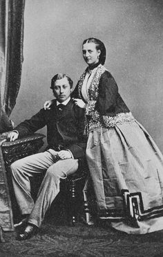 The Prince of Wales and Princess Alexandra of Denmark, September 1862 [in Portraits of Royal Children Vol.6 1862-1863] | Royal Collection Tr...
