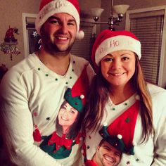 Couple ugly Christmas sweaters | The most wonderful time of the ...
