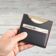 Your place to buy and sell all things handmade Front Pocket Wallet, Slim Wallet, Mens Leather Accessories, Leather Card Wallet, Men's Leather, Slim Man, Compact, Minimalist, Buy And Sell