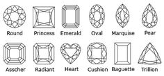 Diamond Cut by Shape. Check out our website for lots of diamond and ring information!