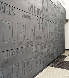 Embossed EQUITONE facade panels. Emigration Museum Gdynia (Poland) #embossed www.equitone.com