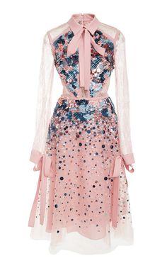 Lace Sleeve Short Dress by ELIE SAAB for Preorder on Moda Operandi