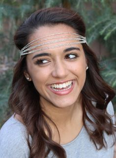 "Front view of the ""Harmony"" headband by Pink Pewter in silver! #PinkPewter"