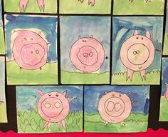 Kinder PIGS.  Apex Elementary Art