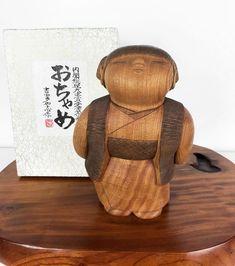 Kokeshi Doll Vintage Ochame by Takashi Yoshida Wooden Statues, Wooden Art, Upturned Nose, Asian Doll, Kokeshi Dolls, Wooden Dolls, Contemporary Ceramics, Cute Dolls, Wood Sculpture