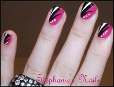 3 id es nail art pour ongles courts ongles nail art et. Black Bedroom Furniture Sets. Home Design Ideas