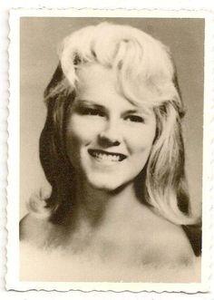 Old Photo Beautiful Blonde Woman Highschool Photo 1960s | eBay