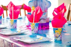 Place setting from Pretty Princess Cinderella Birthday Party at Kara's Party…